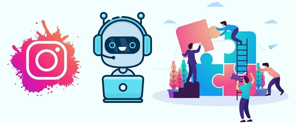 تصویر ربات اینستاگرام بازاریابی